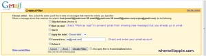 Gmail Filters Step 2