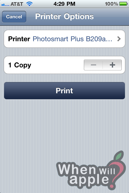 how to add a printer to iphone 4 ios 7